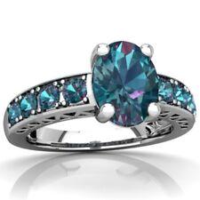 4.6CT Mystic Rainbow Topaz 925 Silver Jewelry Wedding Engagement Ring Size 7