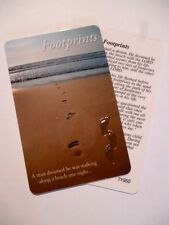FOOTPRINTS ~ Gilt Embossed Prayer Card ~ CREDIT CARD SIZE ~ PACK OF TWO