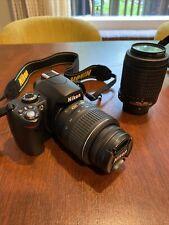 Nikon D60 10.2 MP Digital SLR Camera Bundle w/ 55-200mm & 18-55mm Lenses ~!