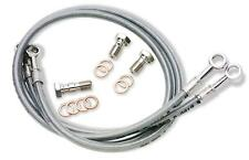 Galfer Stainless Steel Braided Brake Line Kit - 3 Line Front Smoked Vmax V-Max