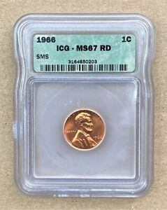 1966 Lincoln Cent 1¢ - ICG MS67 RD