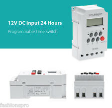SINOTIMER 12V 24 Hours LCD Digital Programmable Time Switch Timer Control