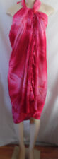 PINK  TIE DYE WRAP, SARONG, SWIMSUIT COVER UP RAYON FRINGE EDGE