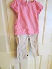 Jumping Beans Size 12 Mos matching pink top with beige pants