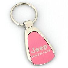 Jeep Patriot Pink Tear Drop Metal Key Ring