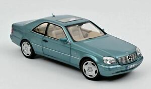 Mercedes Cl600 Coupe' 1997 Bleu Métallique 1:18 Model 183448 Norev