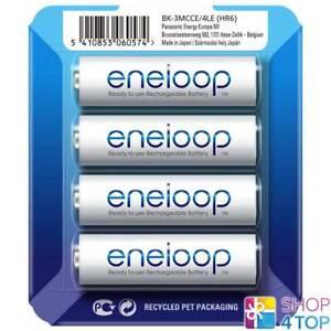 4 Panasonic eneloop Rechargeable Aa HR6 Batteries Blister Pack 1.2V 2000mAh New