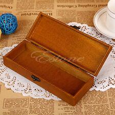 Retro Eiffel Tower Wooden Pencil Case Wood Stationery Storage Box Pen Holder Box