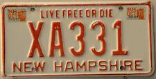 New Hampshire License Plate NH Tag Interim