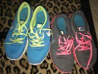 GUC Nike Flex Experience RN Women's running shoe Sz 8.5 9 Grey turquoise 525754