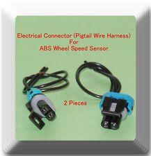 2 Connectors of ABS Wheel Speed Sensor ALS1463 Front L & R Fits: Chevrolet GMC