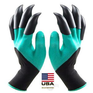Gardening Digging Planting Pruning Tools Lawn Care 8 Claws Garden Genie Gloves