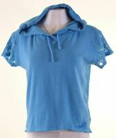 HOLLISTER Womens Hooded Top Size 10 Small Blue Cotton  GH09