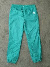 Vintage 80s Adidas Green Tracksuit Trackie Shell Suit Bottoms Pants - Size XL