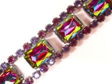 Versilberte Modeschmuck-Armbänder mit Amethyst-Hauptstein für Damen