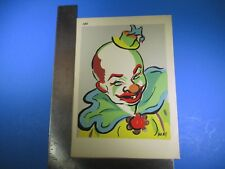 Vintage May Smiling Colorful Clown Art #189 Pressed Image S5317