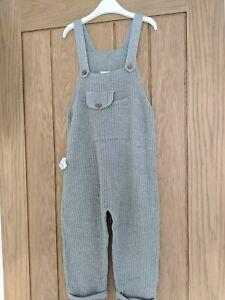 Zara Boy Girl Unisex 4-5 Years Knitted Dungarees