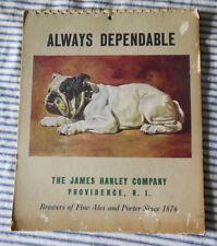 1943 Hanley Co Brewers Advertisement Bulldog RARE 9 Morgan Dennis Prints