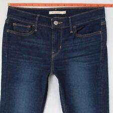 Ladies Womens Levis 710 SUPER SKINNY Stretch Blue Jeans W29 L32 UK Size 10