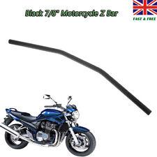 """7/8"""" 22mm Black Handlebar Z Drag Bar For Harley Bobber Honda Yamaha Suzuki"""