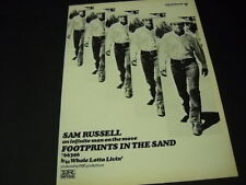 Sam Russell infinite man on move with Footprints In Sand 1969 Promo Poster Ad