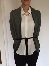 Hugo Boss Cardigan Bluse 36 S Grau Schwarz Silber Kleid Rock Mantel