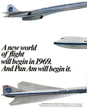 Pan Am - The Us Supersonic Transport - 1969 - Promotional Advertising Poster