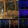 128led 4x0.8m Hilo Hadas Cortina Luz Boda Navidad jardín interior exterior