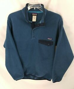 Patagonia Synchilla Snap T Blue Pullover Fleece Mens M