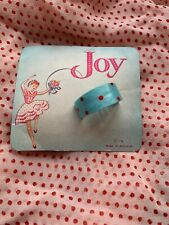 Vintage 1940s Hair Clip / Ponytail Cover Polka Dot Original Card New Old Stock