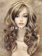 Back in Stock Curly/wavy Layered Blonde Brown mix  Wig bangs jsbc 12-24B-613