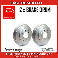 2 X REAR BRAKE DRUMS FOR HONDA DRM9128