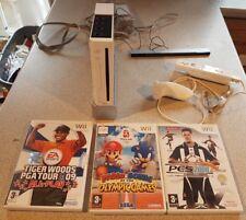 Nintendo Wii Console 3 Games Bundle