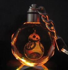 Star wars BB-8 Robot Crystal Key Chain LED light bling key chain gift
