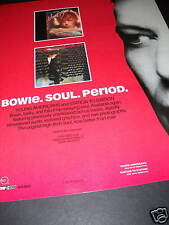 David Bowie Soul. Period. 1991 Promo Poster Ad