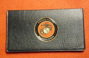 USMC UNITED STATES MARINE CORPS SEMPER FI  CHECKBOOK COVER FOLDER HOLDER WALLET