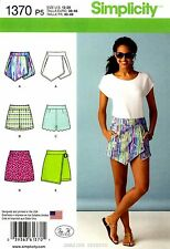 Simplicity Sewing Pattern 1370 Women's 12-20 Shorts Skort Skirts