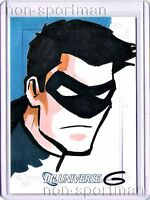 DC LEGACY NIGHTWING SKETCH CARD BY GRANT GOULD