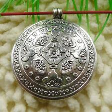 Free Ship 7 pieces tibetan silver cute pendant 54x47mm #673