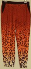 SASS Animal Ombre PANTS 3/4 crop lgth  bold print  semi sheer NEW! ~ Women sz 8