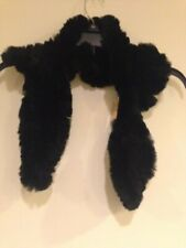 Genuine Black Rabbit Fur Scarf