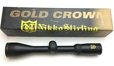 Nikko Stirling Gold Crown 3-9X42mm Rifle Scope Duplex Reticle Black + Box 2469SX