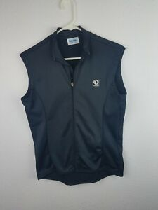 Pearl Izumi Cycling Biking Vest Mens S Black Full Zip Collared Back Pocket  A13