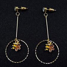 New Fashion Betsey Johnson Alloy Rhinestone Bee Drop Earrings Fashion Jewelry