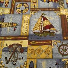 Nautical Lighthouse Sailboat Fabric Leslie Beck VIP 45