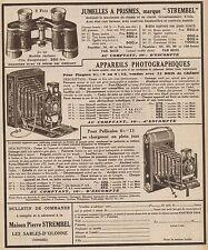 Y9119 STREMBEL - Apparecchi fotografici - Pubblicità d'epoca - 1930 Old advert