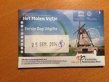 Nederland 5 euro 2014  Het Molen vijfje met eerste dag env.