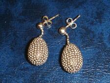 Silver PENDANT EARRINGS. Hallmarked. Posts for Pierced Ears