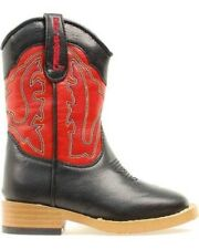 Double Barrel Western Boot Boy Size 11 Trailboss Pull On Black 4452001 $57.00