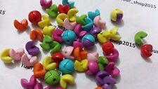 50x(12mm) split demi rond boules mixte acrylique perles bijoux conclusions Craft